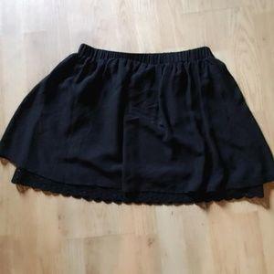 decree black skirt crochet trim